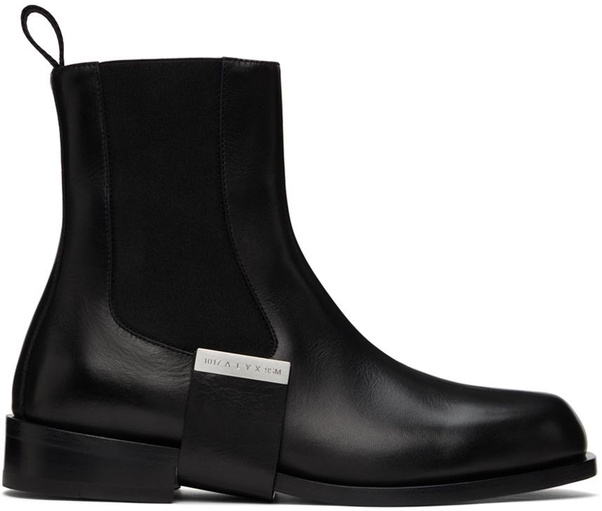 1017 ALYX 9SM 黑色 Leather Strap 切尔西靴