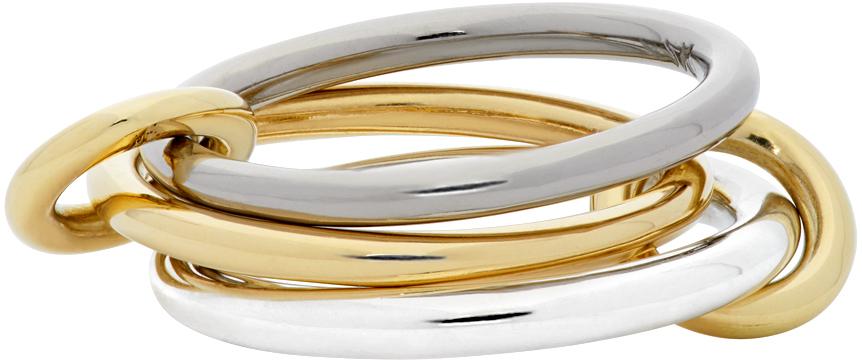 Spinelli Kilcollin 银色 & 金色 Fauna Three-Link 戒指