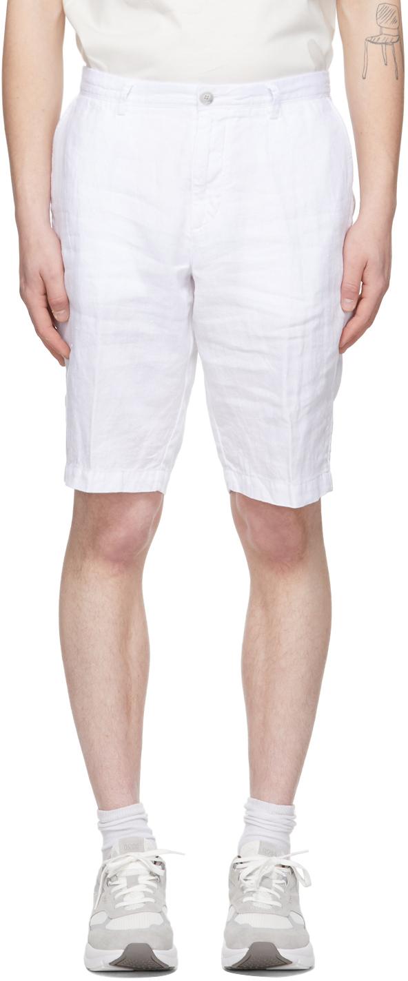 BOSS 白色 Crigan 亚麻短裤