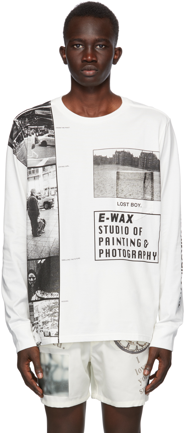 "TAKAHIROMIYASHITA TheSoloist. 白色 E-WAX 联名""Lost Boy""长袖 T 恤"