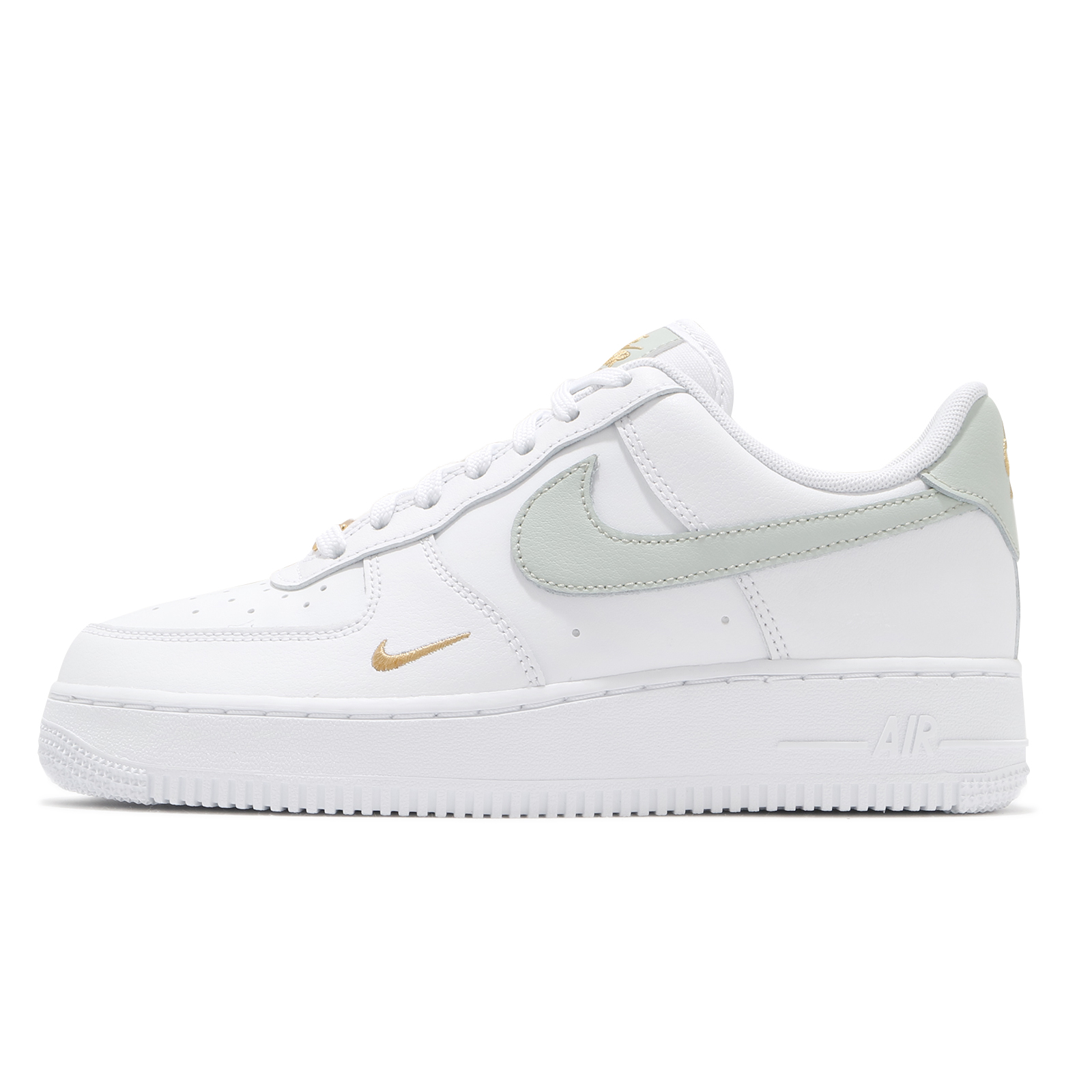 Nike 休閒鞋 Wmns Air Force 1 07 白 灰 小金勾 小白鞋 女鞋【ACS】 CZ0270-106