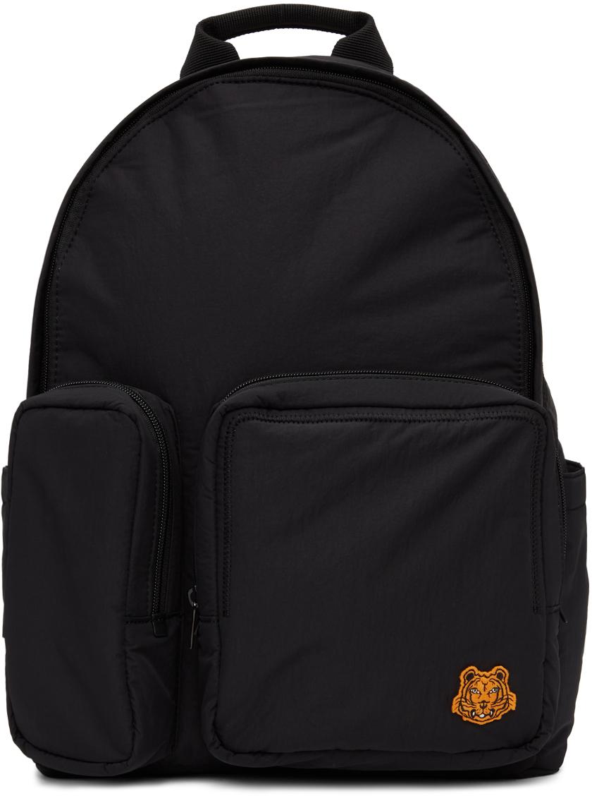 Kenzo 黑色 Tiger Crest 双肩包