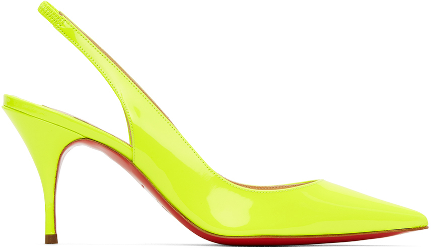 Christian Louboutin 黄色 Clare 80 后系带高跟鞋