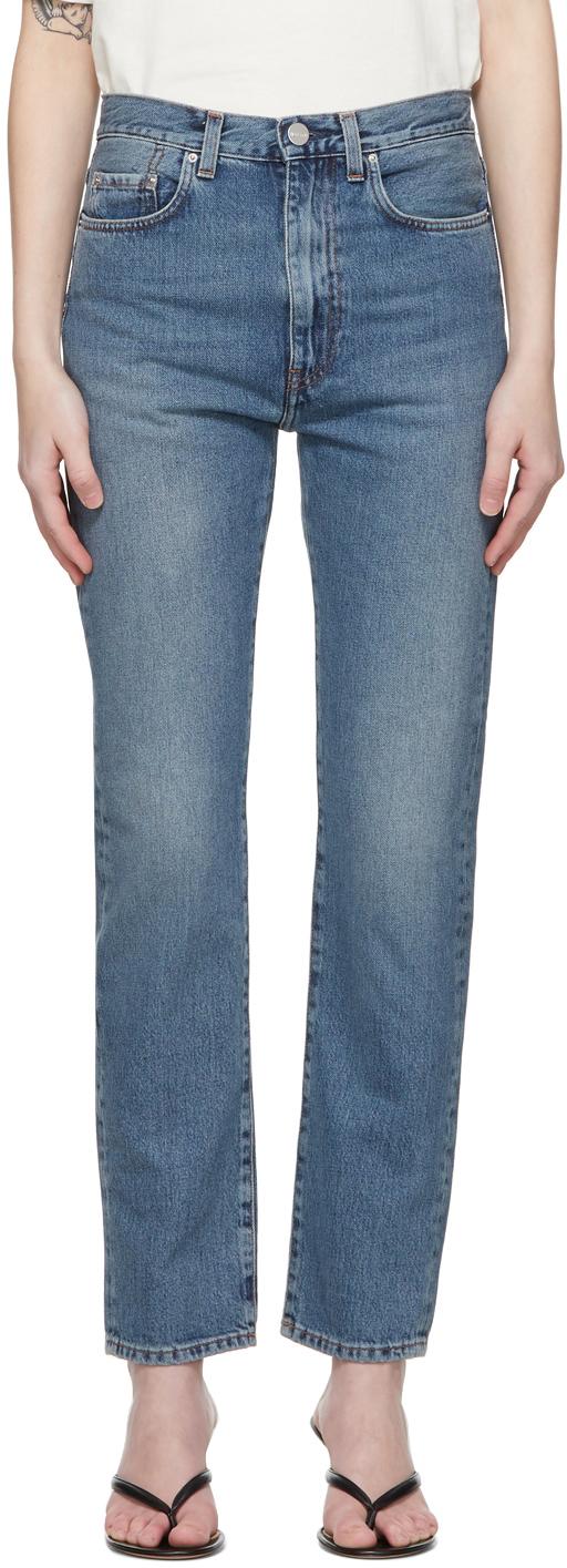 Totême 蓝色 Regular Fit 牛仔裤
