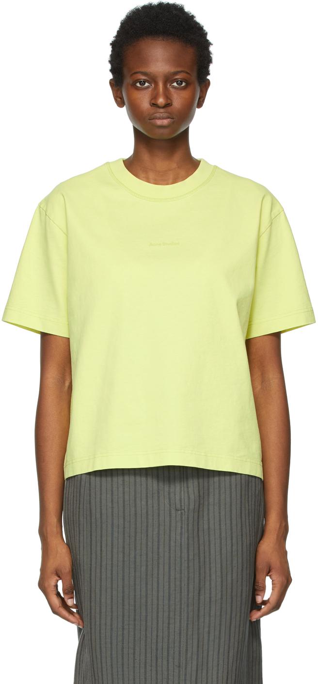 Acne Studios 黄色徽标 T 恤