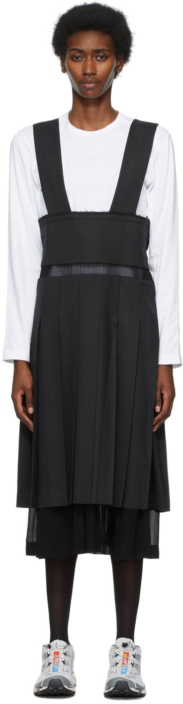 Comme des Garçons 黑色叠层褶裥背带裙