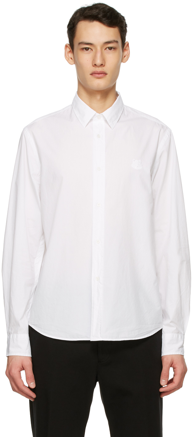 Kenzo 白色 Tiger Crest 衬衫