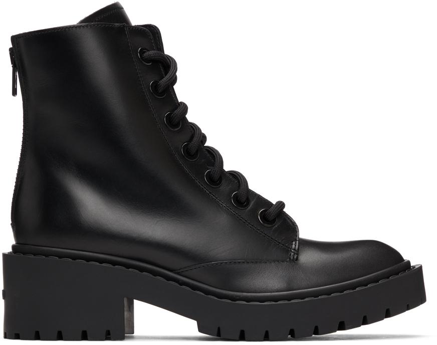 Kenzo 黑色 Pike 踝靴