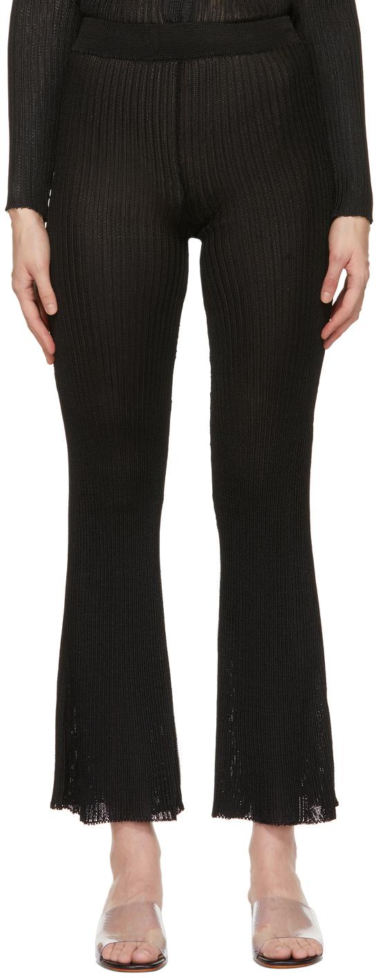 Calle Del Mar 黑色罗纹长裤