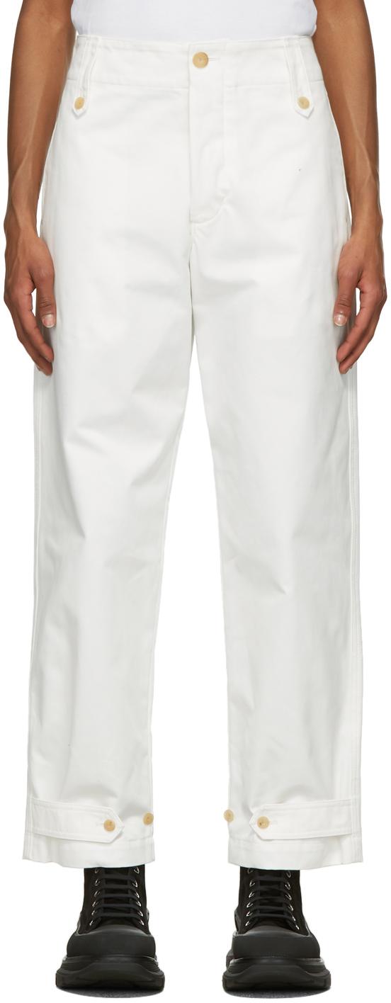 Alexander McQueen 白色 Buttoned 长裤