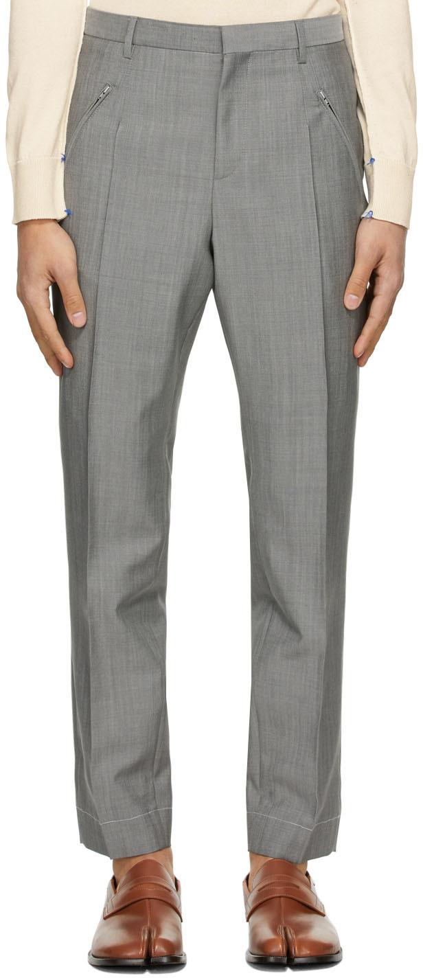 Maison Margiela 灰色粗花呢长裤