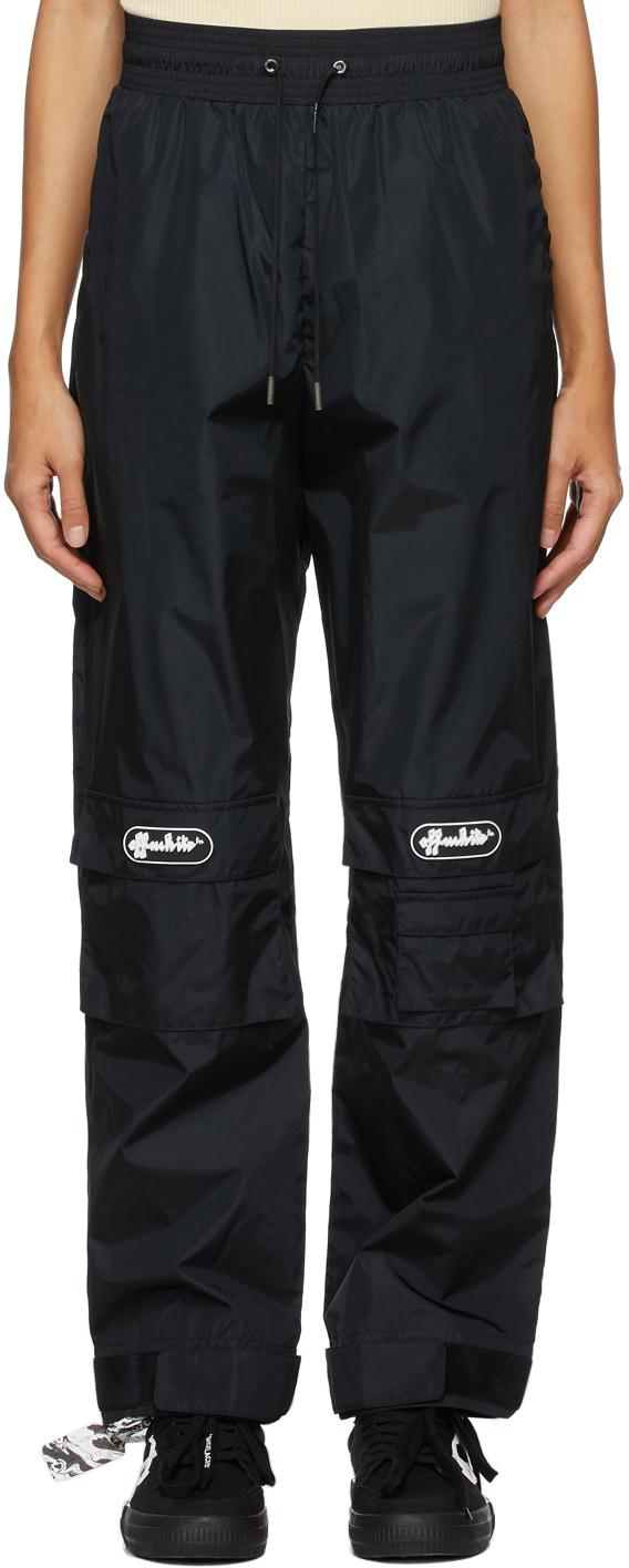 Off-White 黑色徽标贴饰长裤
