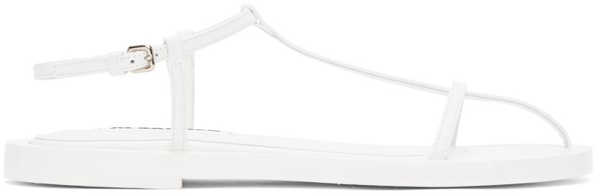 Jil Sander 白色 Middle 束带凉鞋