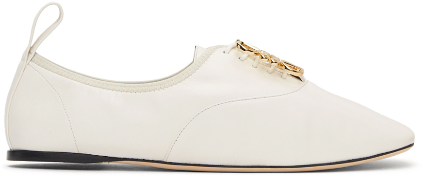 Loewe 白色 Anagram Soft 德比鞋