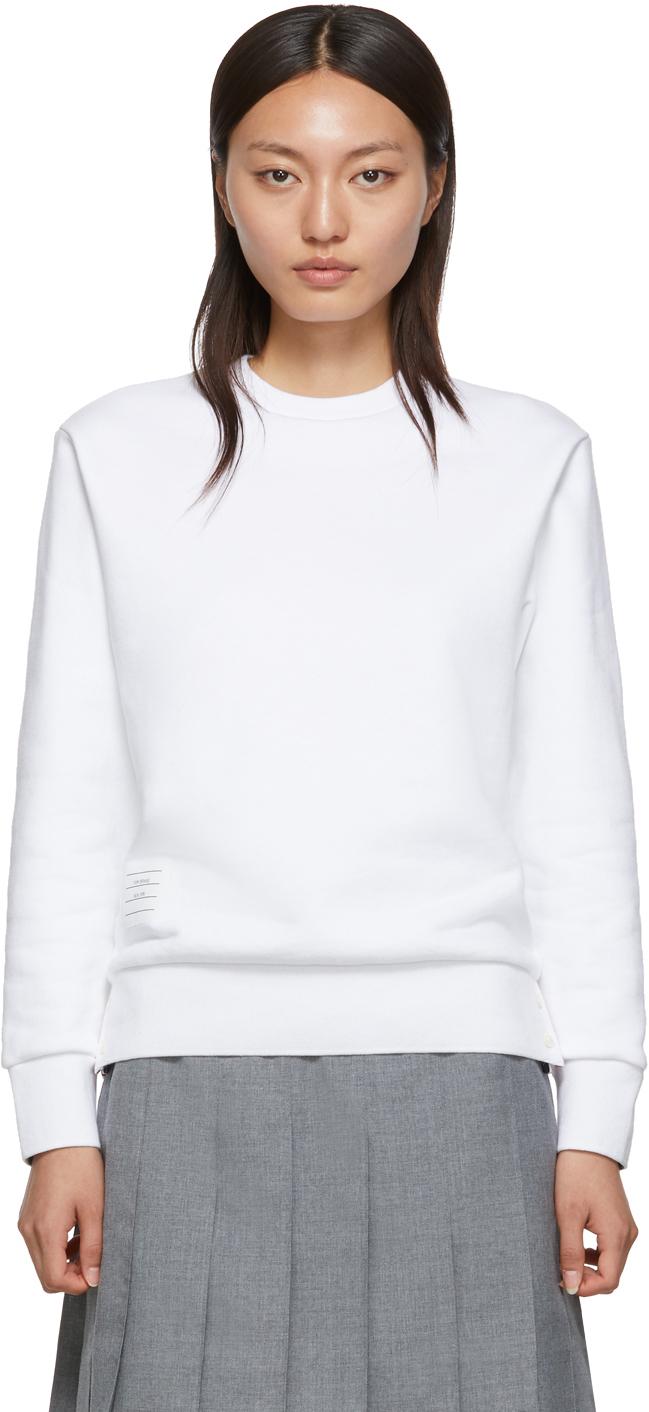 Thom Browne 白色 Classic 圆领套头衫