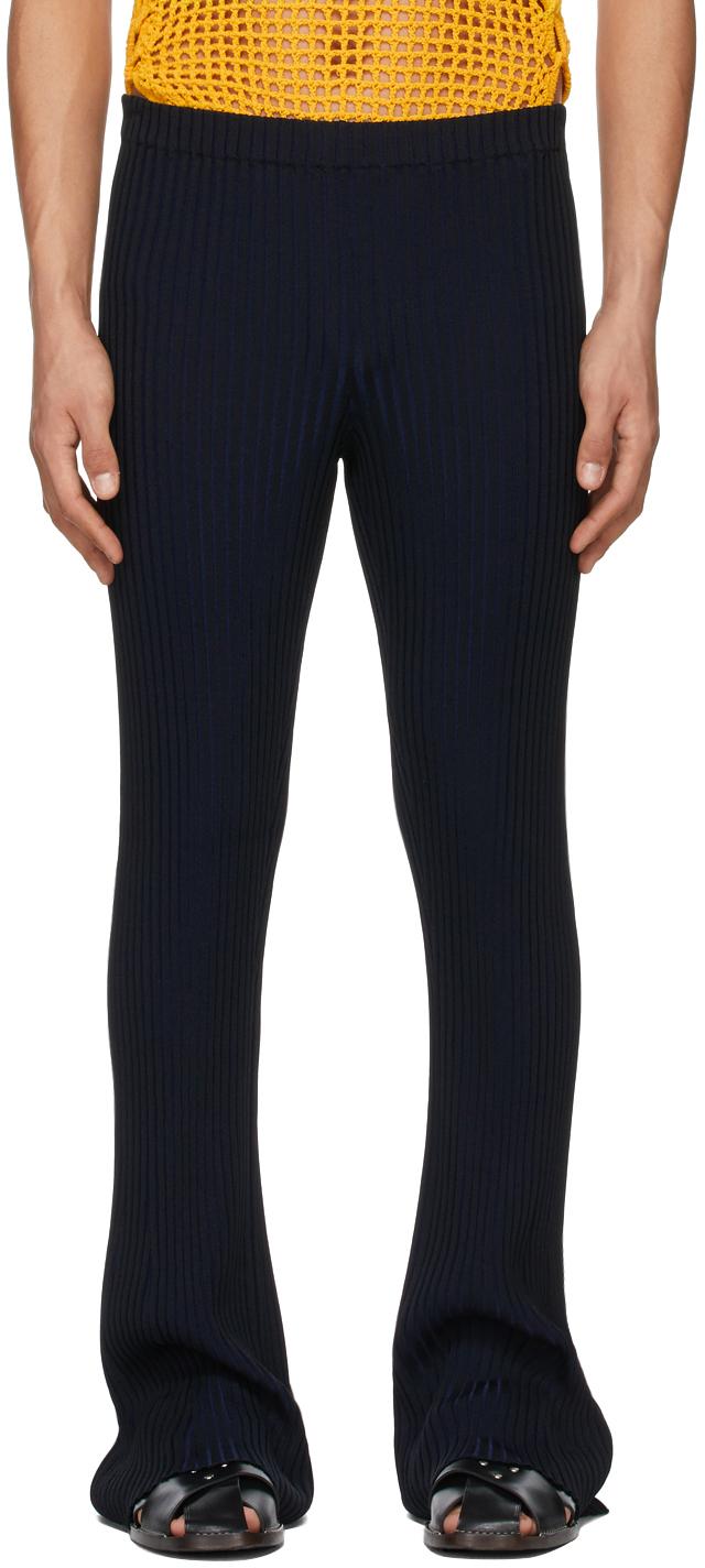 Dion Lee 黑色 & 海军蓝条纹长裤