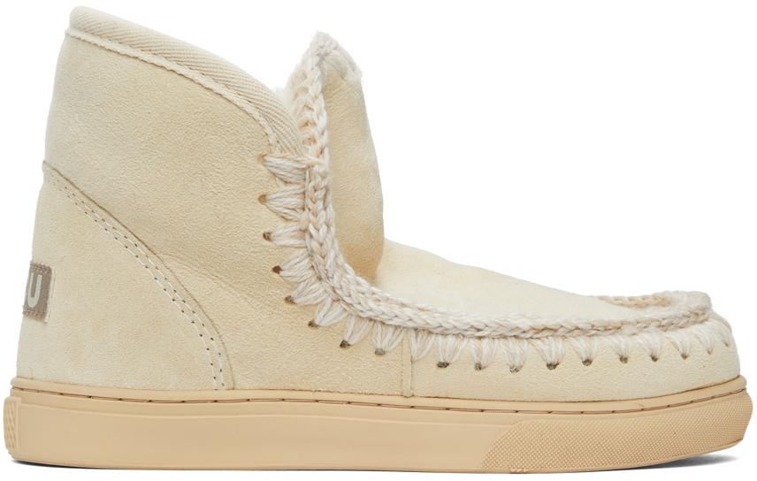 Mou SSENSE 独家发售灰白色 Sneaker 踝靴