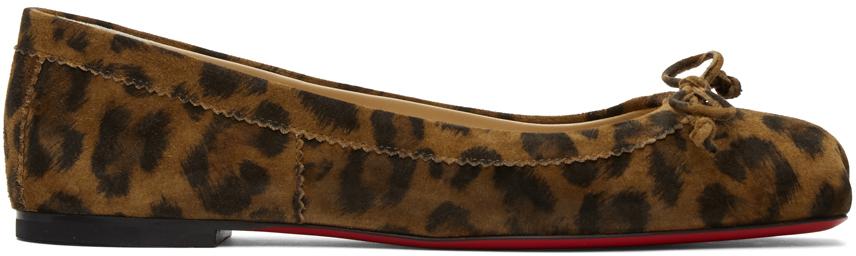Christian Louboutin 棕色 Mamadrague 豹纹芭蕾鞋