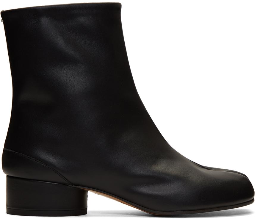 Maison Margiela 黑色 Tabi 低跟踝靴