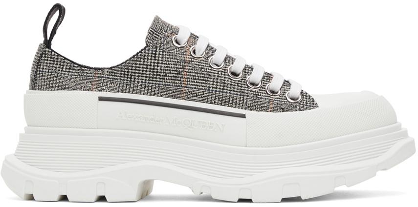 Alexander McQueen 黑色 & 白色 Tread Slick 运动鞋