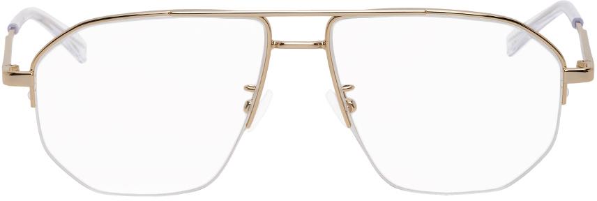 Bottega Veneta 金色飞行员眼镜