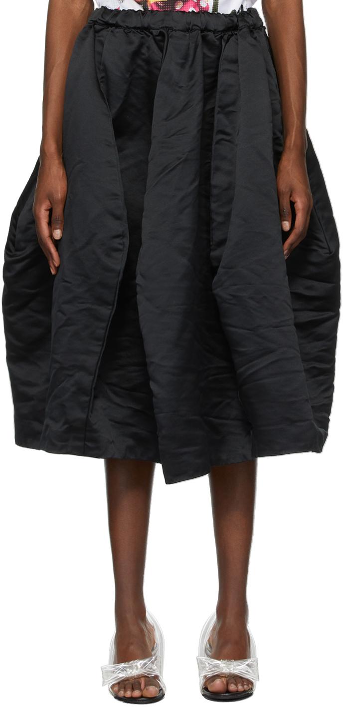 Comme des Garçons 黑色 Pull-On 半身裙