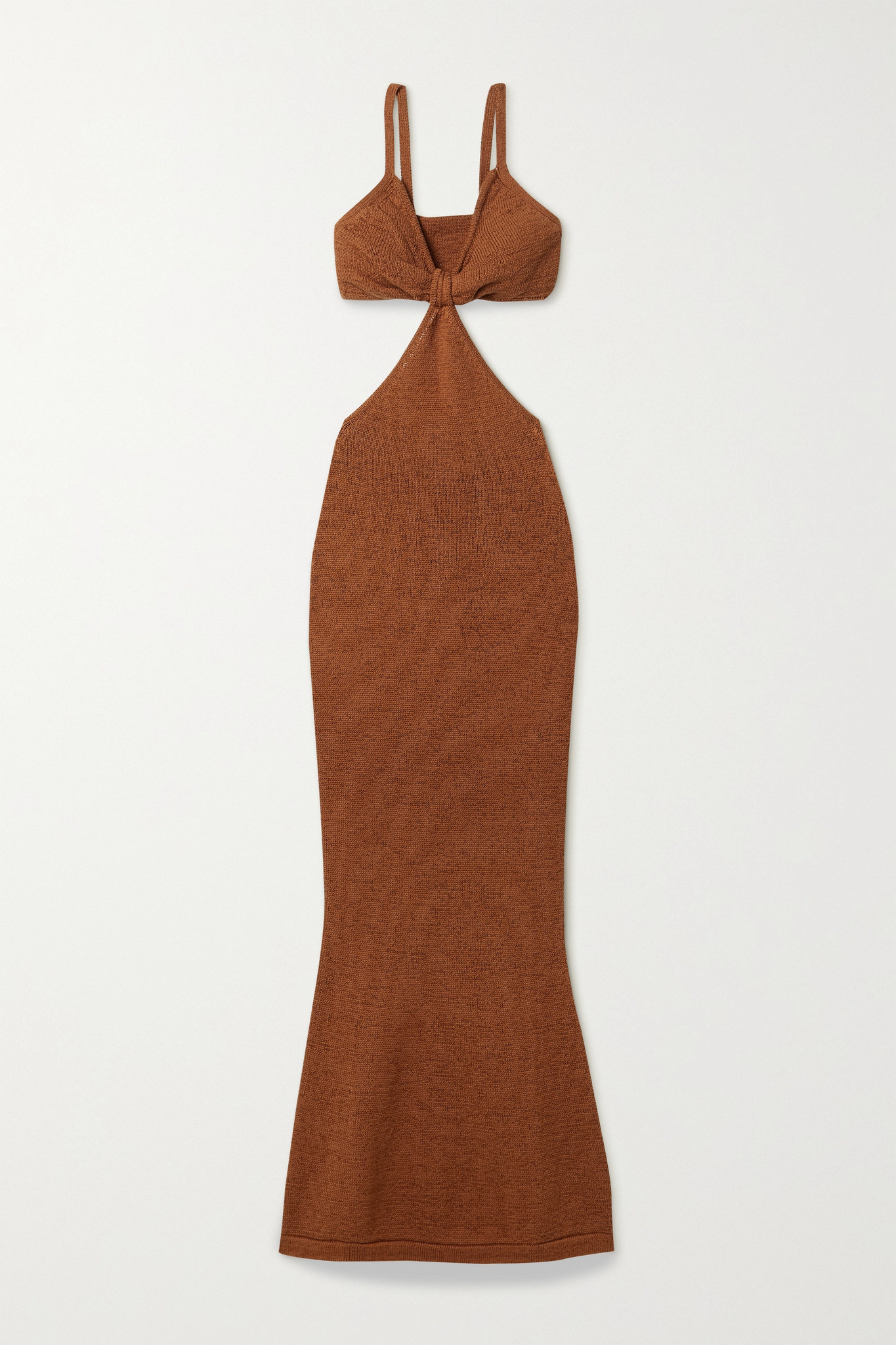 CULT GAIA - Serita 挖剪棉质混纺超长连衣裙 - 红色 - x small