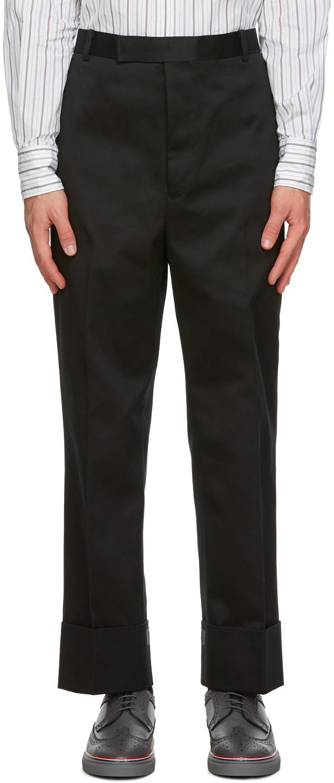 Thom Browne 黑色 Tipping 长裤