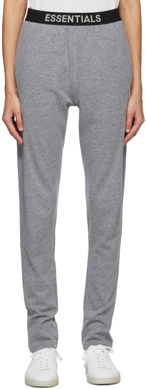 Essentials 灰色弹性裤腰长裤
