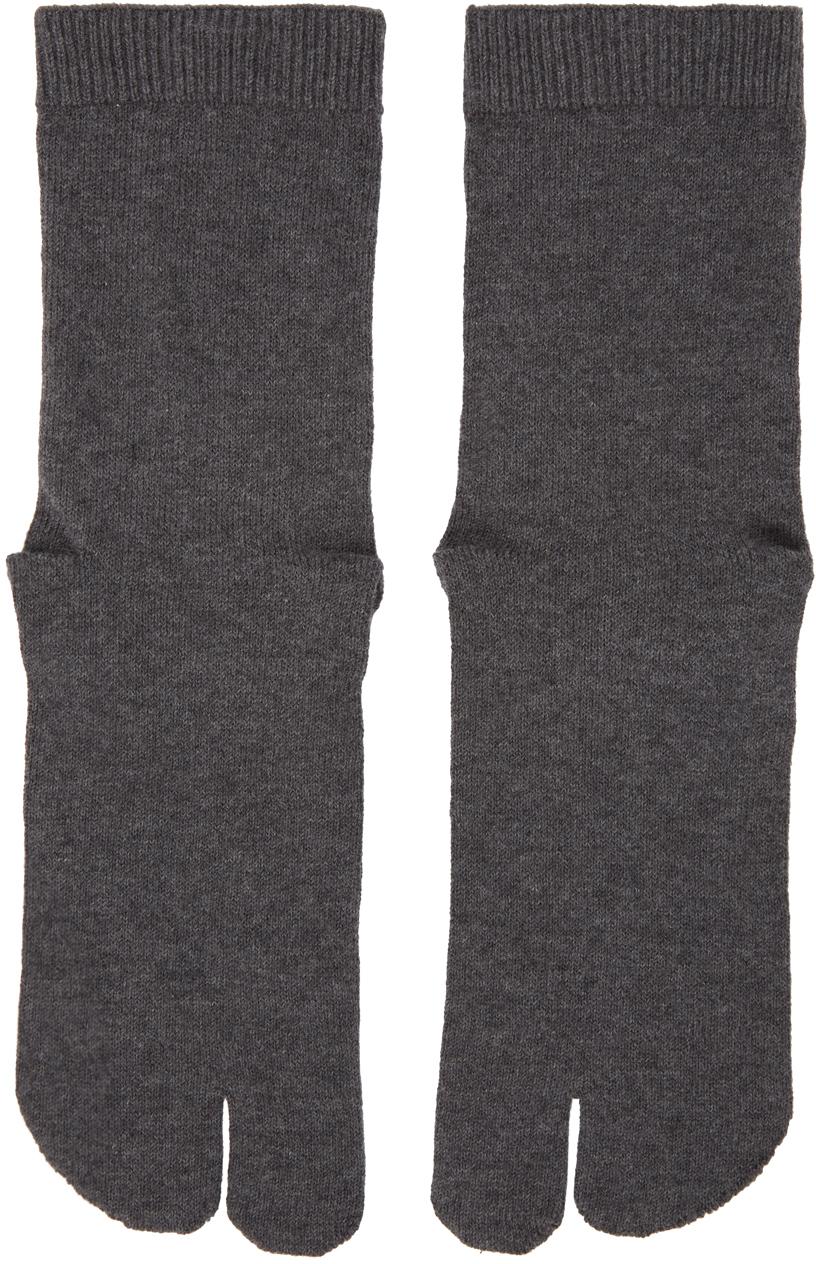 Maison Margiela 灰色 Tabi 中筒袜