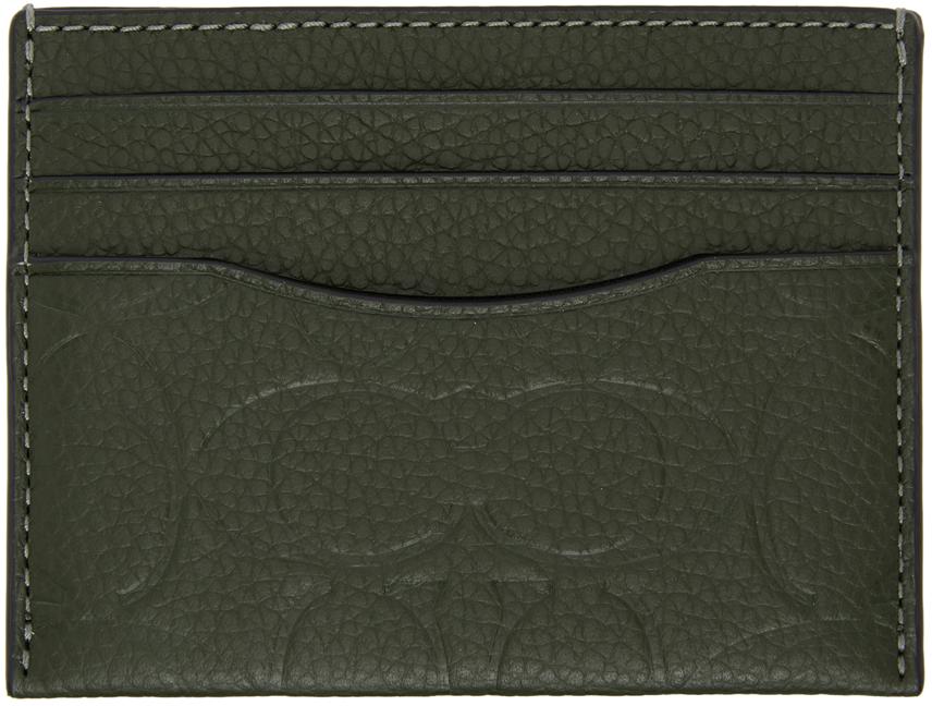 Coach 1941 绿色 Signature Leather 卡包
