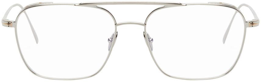 TOM FORD 银色防蓝光方框眼镜