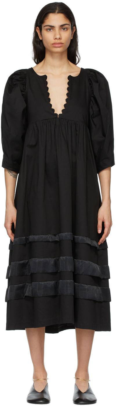 Kika Vargas 黑色 Sophia 连衣裙