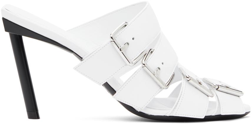 Balenciaga 白色束扣穆勒鞋