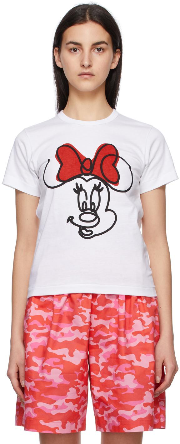 Comme des Garçons Girl 白色 Disney 联名 Minnie Mouse T 恤