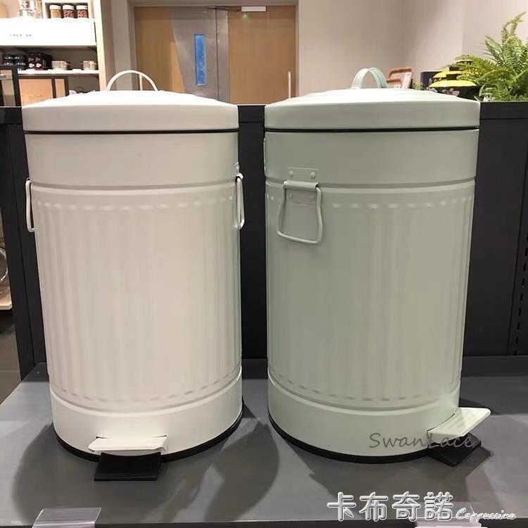 哑光色系SwanLace优选汉森复古静音英伦大象灰色竖纹不锈钢垃圾桶 果果輕時尚