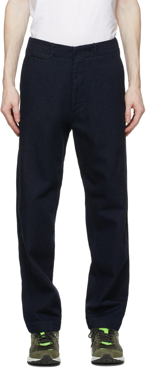 Nanamica 靛蓝色阔腿牛仔裤