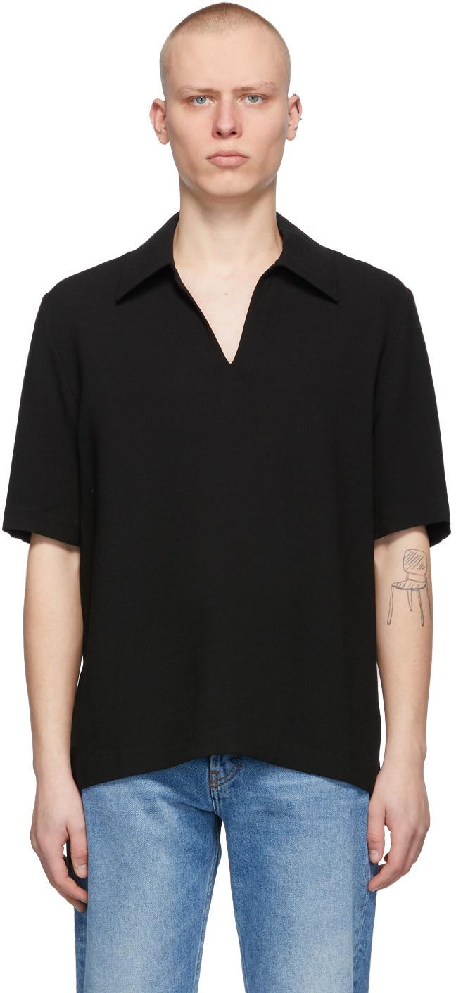 Séfr 黑色 Mate Polo 衫