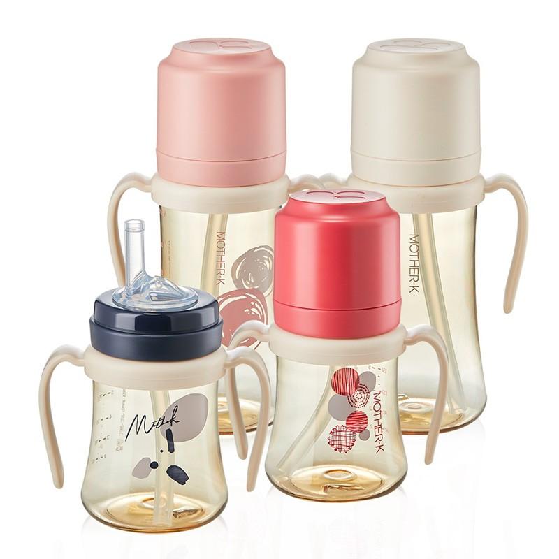 韓國 MOTHER-K 頂級PPSU多功能學習飲吸吸杯 200ml 300ml 兒童喝水杯 4780 K-MOM