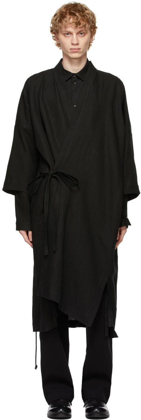 Jan-Jan Van Essche 黑色 Kimono 浴袍