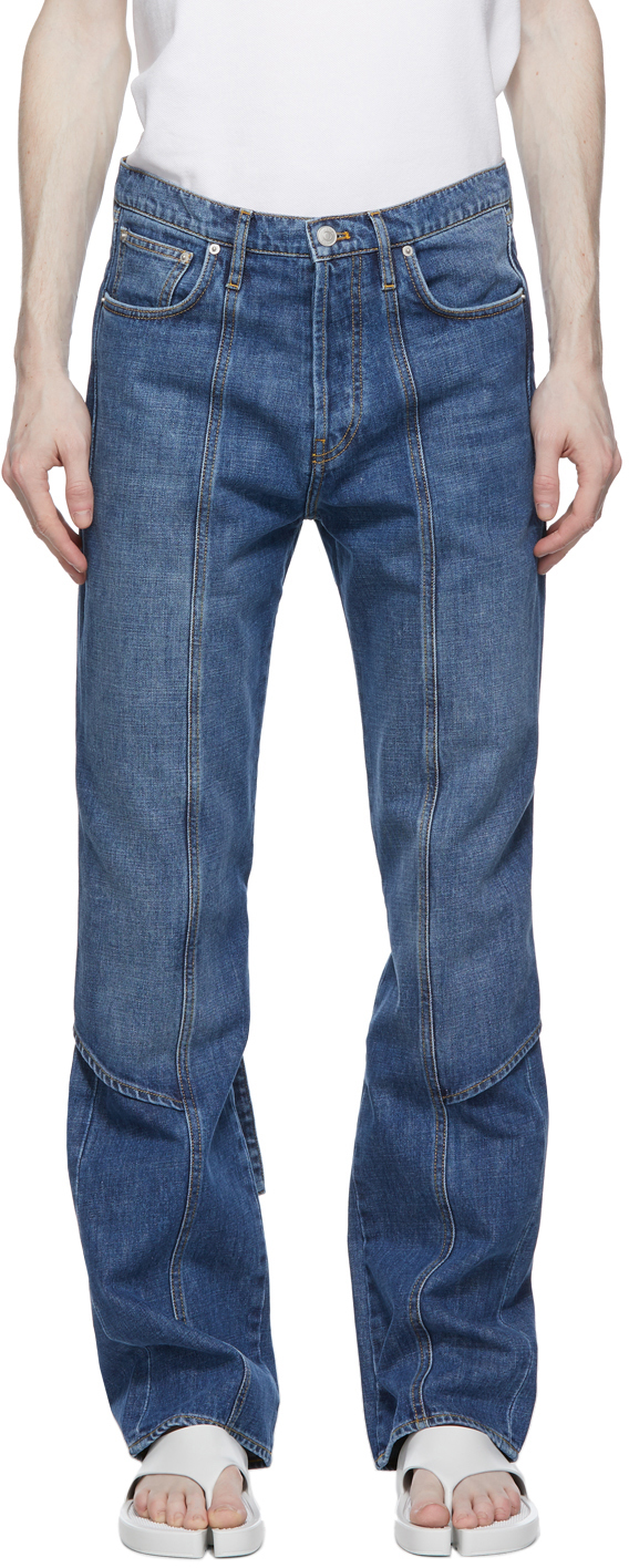 Kenzo 蓝色 Apron 牛仔裤