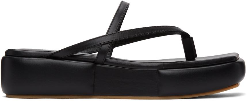 Flat Apartment 黑色 Puffed Platform 凉鞋