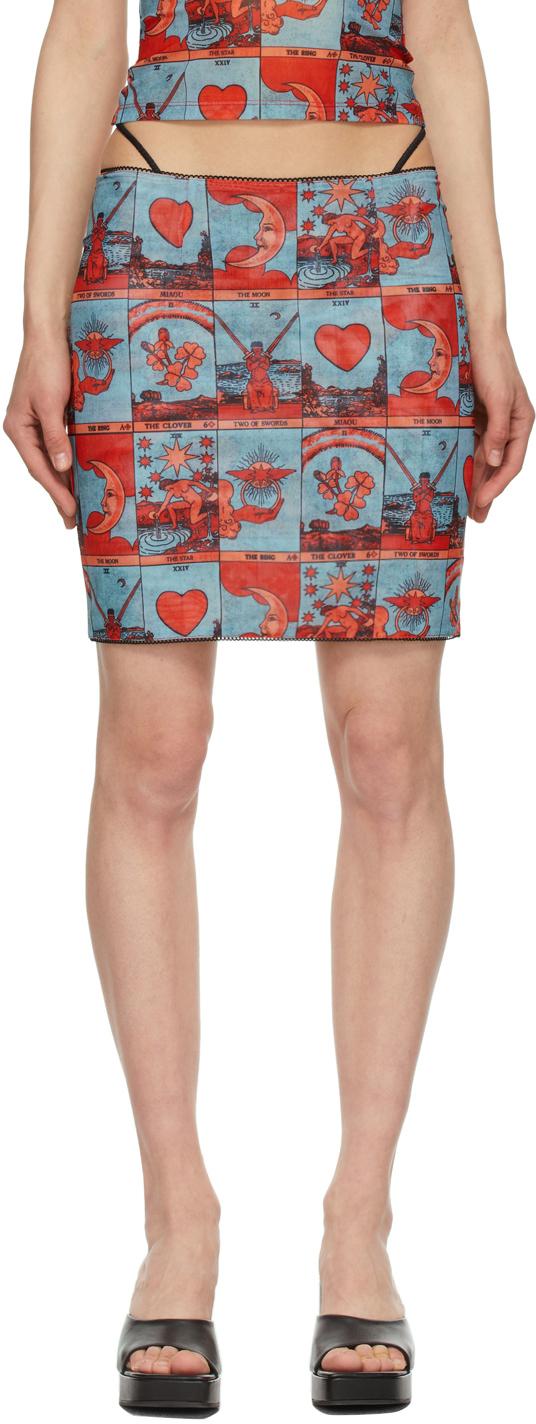 Miaou 蓝色 & 红色 Moni 短裙