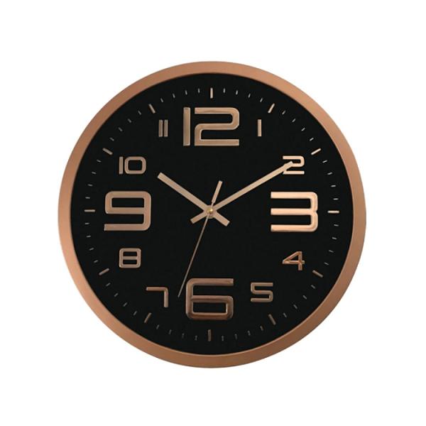 30cm超靜音立體數字壁掛時鐘 (金色豪華時尚) 大數字壁鐘 靜音掛鐘 指針時鐘 靜音時鐘