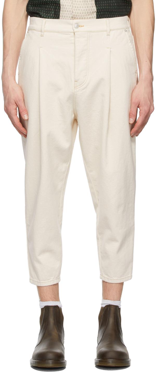 Drôle de Monsieur 灰白色 Cropped 牛仔裤