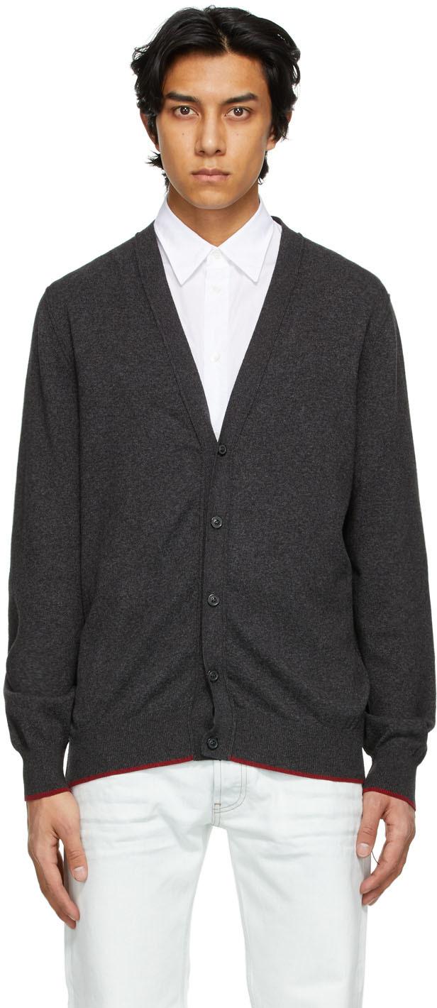 Maison Margiela 灰色肘部贴饰开衫