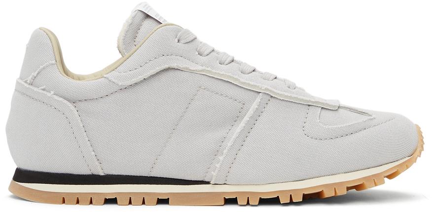Maison Margiela 灰白色 Runner 帆布运动鞋