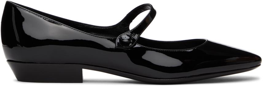 Saint Laurent 黑色 Sixtine Ballerina 低跟鞋