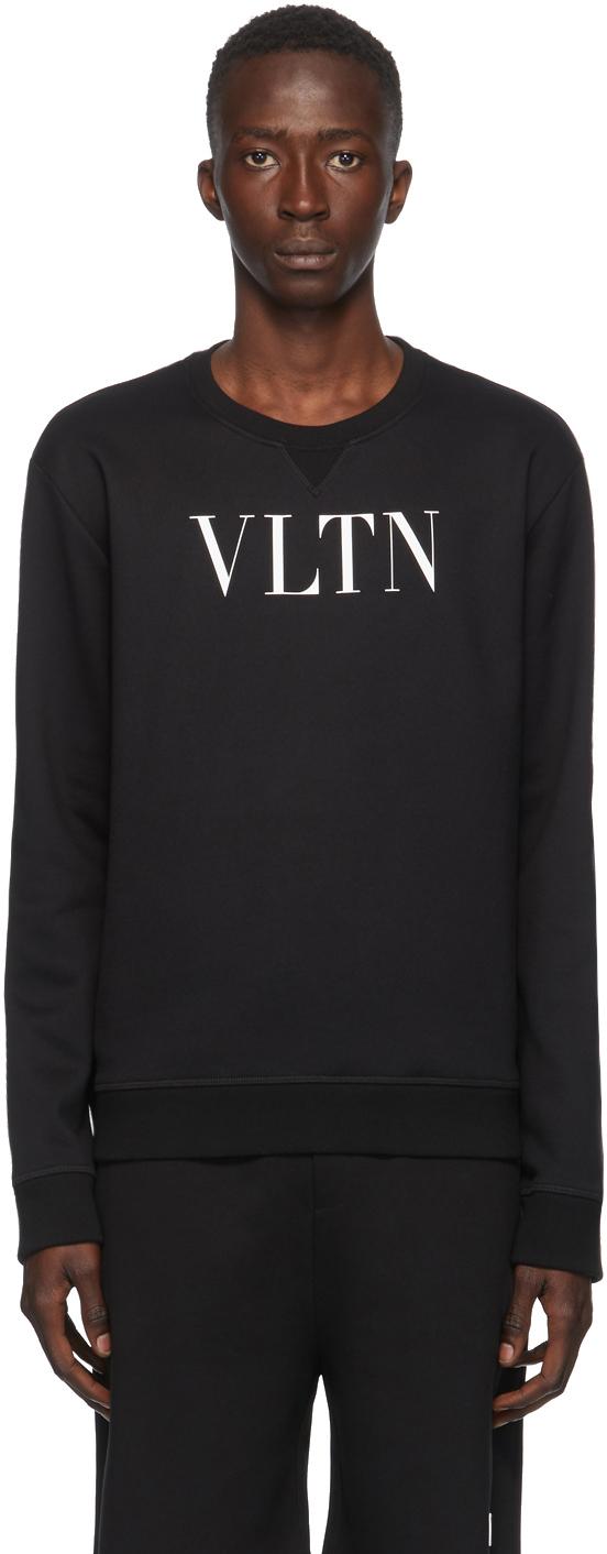 """Valentino 黑色""""VLTN""""套头衫"""