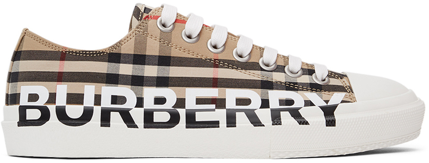 Burberry 驼色 Check Logo Larkhall 运动鞋